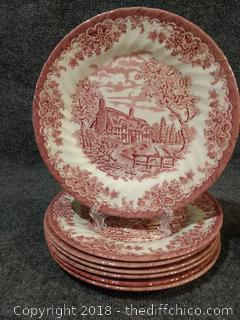 """(7) 10"""" Queen's Plates and (6) 7"""" Churchill Plates"""