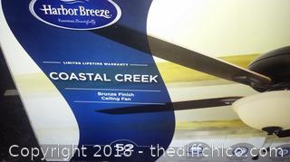 """Harbor Breeze Coastal Creek 52"""" Ceiling Fan"""