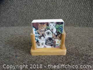 Ceramic Cat Coasters