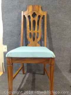 """Sturdy Wooden Chair - Vintage - 42"""" Tall"""