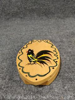Vintage Wooden Hamburger Press - Woodpecker Woodware