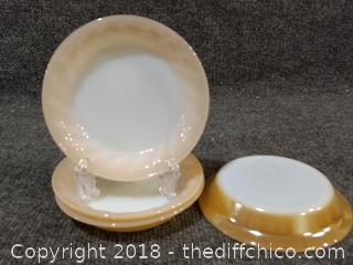 (4) Anchor Hocking Fire King Dishes
