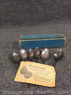 Rogers Bros Spoons - Silver Plated - With Original Box