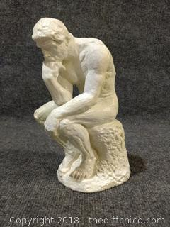 """Thinker"" Statue - Weighs 4.4 lbs - 9.5"" x 4"" - Marked 1962 on the Back"