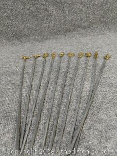 1960's Brass Shish Kabob Skewers from India