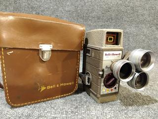 Bell & Howell 252-8mm Movie Camera with Case - Untested