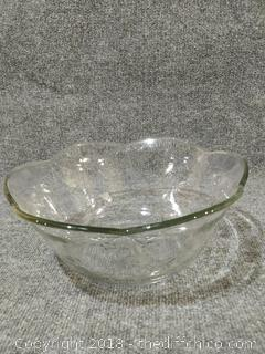 Hand Pressed Glass Bowl - 100+ Years Old