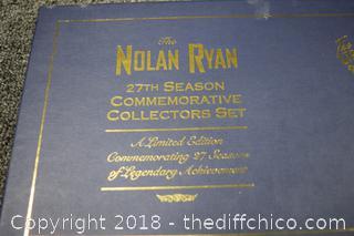 NIB Nolan Ryan 27th Season Collector Set