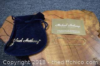 Michael Anthony 14k Gold Bracelet