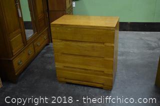 Quarter Saw Oak 4 Drawer Dresser