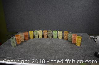 15 Vintage Glass Tumblers