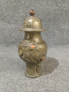 Turn of the Century Brass Urn 10""