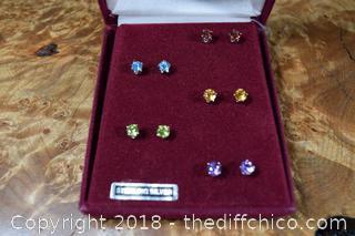 5 Pair of Sterling Silver Stud Earrings