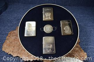 Commemorative D-Day Zippo Lighters Collection