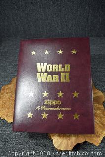 NIB World War II Remembrance Zippo Lighter Collection