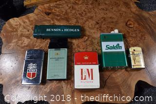 6 Used Lighters
