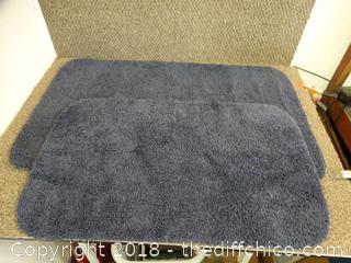 Blue Bath  Rugs