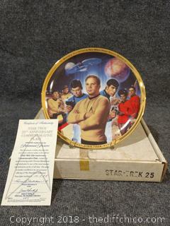 25th Anniversary Star Trek Commemorative Plate