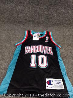 Bibby Vancouver Jersey - NEW - Size Youth S