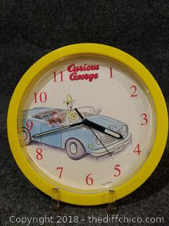 """Working Curious George Clock 9.5"""""""