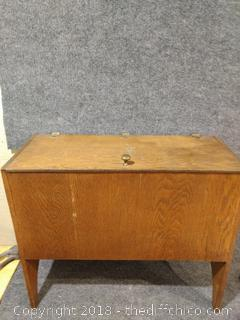 """Wooden Box with 3 Drawers - Vintage - 21"""" x 11"""" x 21"""""""