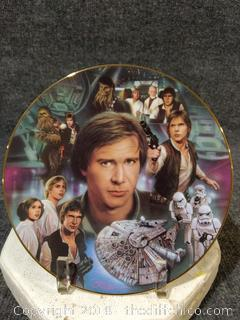Han Solo Star Wars Collector's Plate 1997