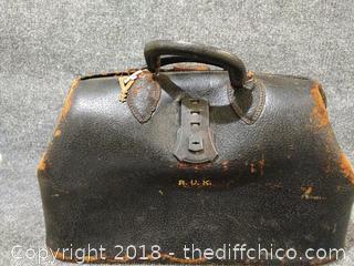 Antique Medical Bag with Key