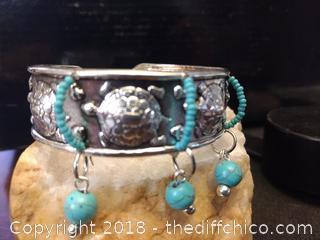 Cherokee Indian Cuff Bracelet by Black Hawk