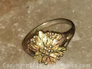 Ladies Black Hills Gold 12 KT Rose Gold with Sterling Silver Band - Vintage