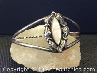 Navajo Indian Sterling Silver Bracelet - Signed A. Francisco