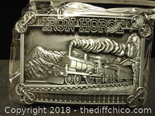 Iron Horse Belt Buckle - NEW