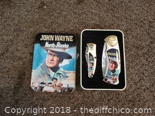 John Wayne Pocket Knife set