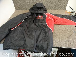 49ER Vinyl Jacket size large