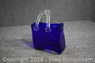 Cobalt Blue Glass Baskets
