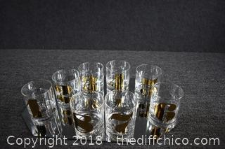 8 Whiskey Glasses