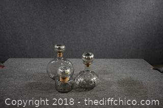 3 Decorative Glass Canisters