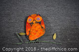 Enamel Owl Wall Hanging
