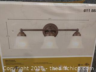 Hampton Bay 3-Light Vanity Fixture - Oil Rubbed Bronze Finish