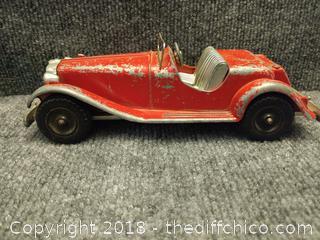 1950's Hubley Kiddie Toy #485 MG Roadster - Die Cast