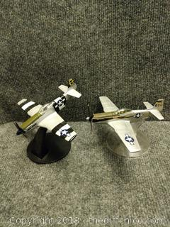 Die Cast Metal Airplanes with Stands