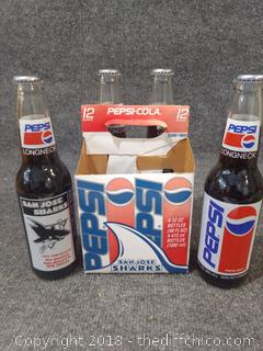 Shark 1993-1994 Season Longneck Bottle Pepsi
