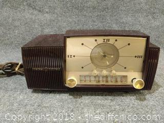 Vintage General Electric Clock Radio - Untested