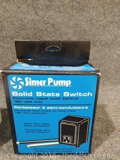 New Simer Pump Solid State Switch