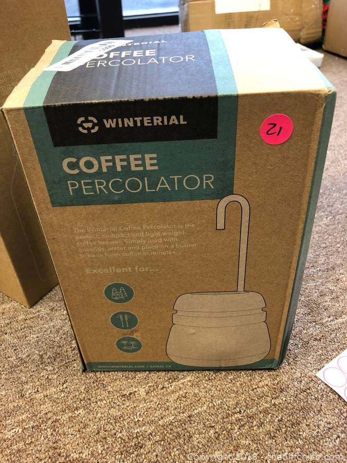 Camping Coffee Includes Cups Winterial Compact Percolator Coffee Maker for Camping Coffee Maker Backpacking