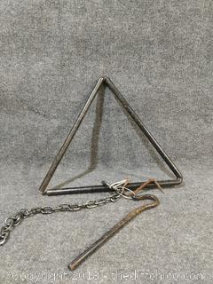 Vintage Iron Dinner Triangle - 18""