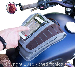Vuz Moto Mini Tank Bag with Phone Window, Magnet Mounting System, -A3