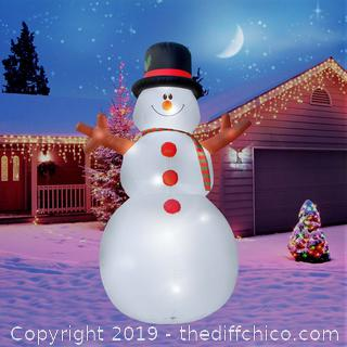 Giant 15 Ft. Snowman Inflatable Featuring Lighted Interior/Airblown Inflatable