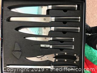 Japanese 67 Layer High Grade VG-10 Damascus Steel Knives with High Carbon Steel Center R12