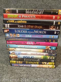 (15) DVD's