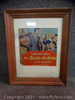 Old Framed Advertisement